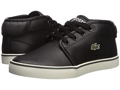 Lacoste Kids Ampthill 319 1 (Little Kid/Big Kid) (Black/Dark Grey) Kid