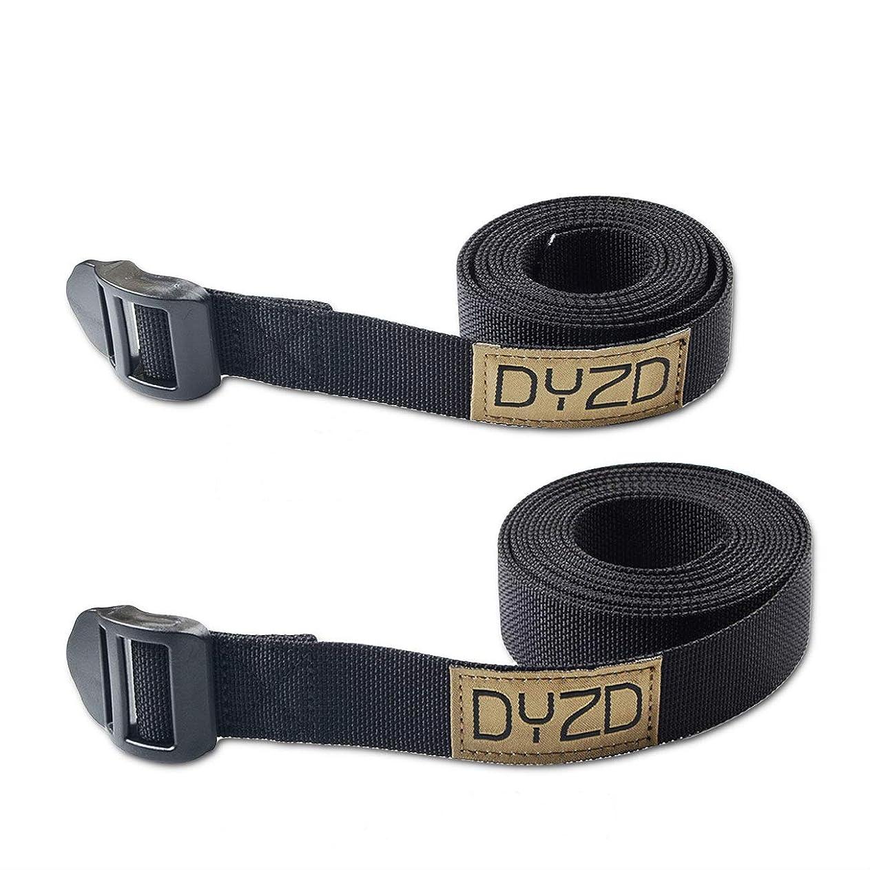 確実黒人中性DYZD 荷締ベルト 固定バンド 固定ベルト バックル 2本セット 黒 Lサイズ245cm Mサイズ145cm 幅2.5cm