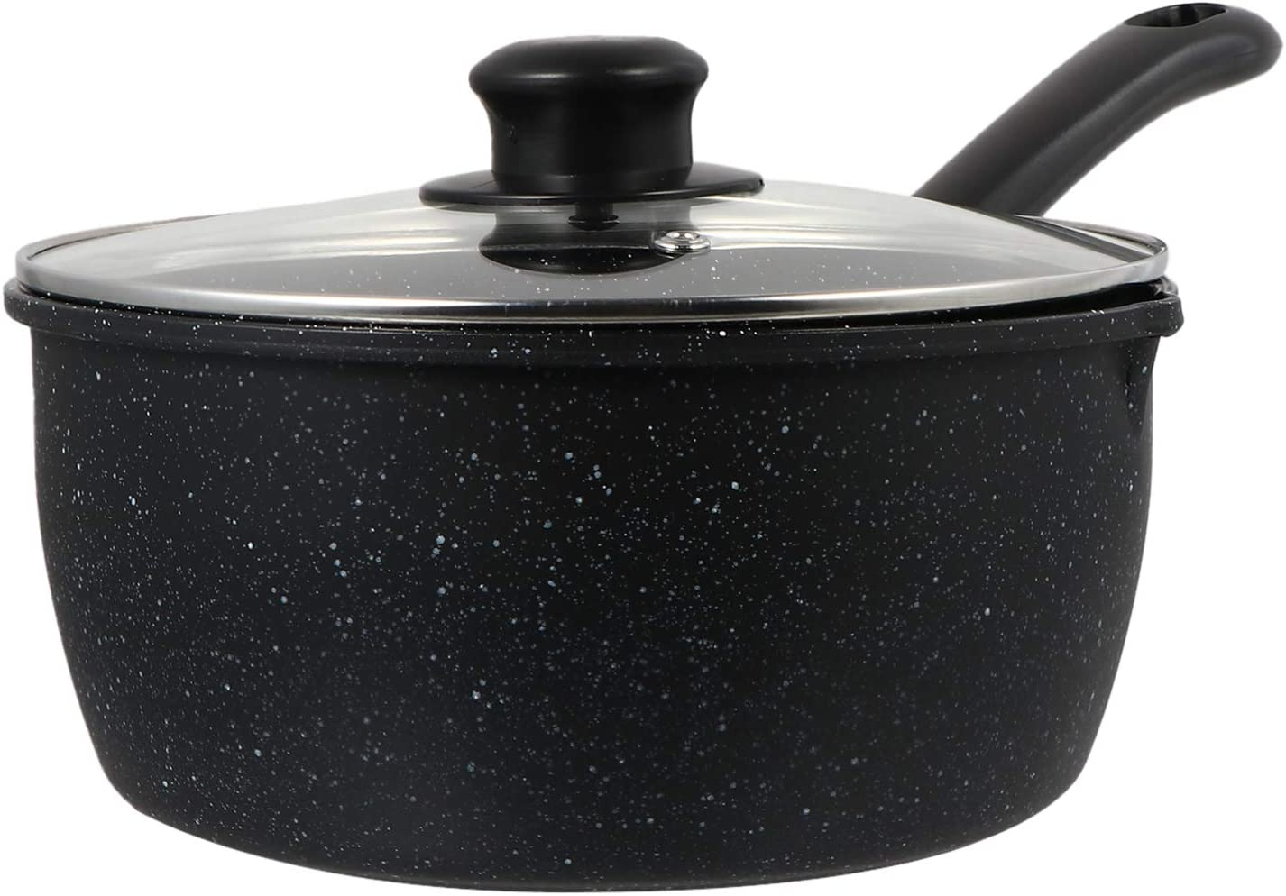 HEMOTON Nonstick Saucepan with Lid Iron Maifan Pot Sto Soup Milk Limited time for Manufacturer regenerated product free shipping