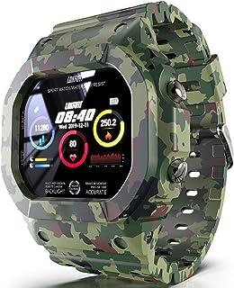 Hombres Natación Reloj Deportivo,Reloj Inteligente Bluetooth Clasificación IP68 Impermeable Fitness Tracker Multifuncional Dama Smart Watch,Carga De Aspiración Magnética-A