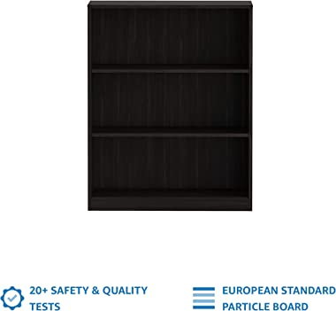 Amazon Brand - Solimo Engineered Wood Aquilla Mini 3 Tier Bookcase ,Wenge Finish,Set Of 1,Brown