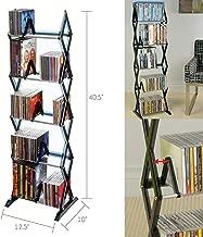 Alek...Shop Stand Holder Storage Rack 5 Tier Shelf Media Tower DVD CD Game Organizer Display Home Entertainment