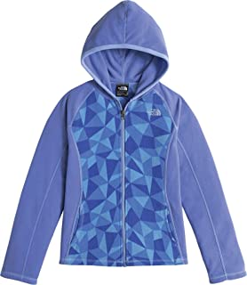 The North Face Girls' Glacier Full Zip Hoodie,Grapemist Blue Triangle Camo,US L