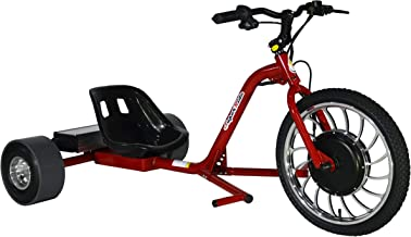 SUPERRIDE 1000Watts Electric Drift Trike | Brush-Less Motor, High Carbon Steel Frame, Front Hydraulic Brake & Tubeless Tires (RED)