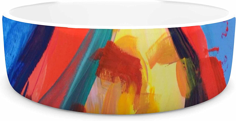 KESS InHouse Cecibd purplea  Red Painting Pet Bowl, 7