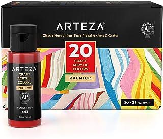 Sponsored Ad - Arteza Craft Acrylic Paint, Set of 20 Classic Colors, 60 ml Bottles, Water-Based, Matte Finish, Acrylic Cra...