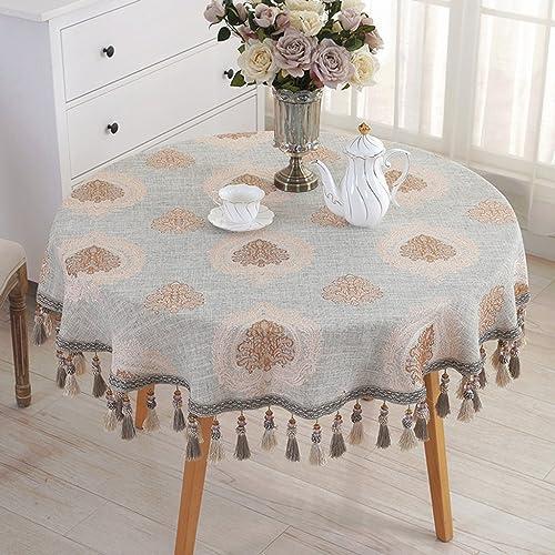 Küchenwäsche Runde Tischdecke europäische Tischdecke Tuch Round Table Größe Tischdecke ( Größe   Round-220cm )