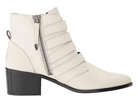 Black Steve Billey Madden Leather Bootie LeatherWhite q0w0Ptxv6