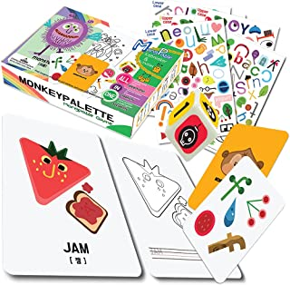 MONKEYPALETTE Mongpable Spot It Image Catch! Active Card Game   Game for Kids   Age 6+   2 to 8 Players   Quiz   Stickers...