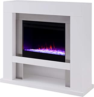 Furniture HotSpot Lirrington Stainless Steel Fireplace with Color Changing Firebox