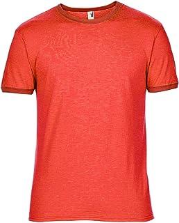 Anvil Mens Plain Lightweight Ringer T-Shirt