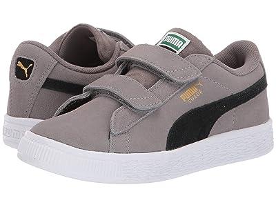 Puma Kids Suede Classic V (Little Kid) (Charcoal Gray/Puma Black) Boys Shoes