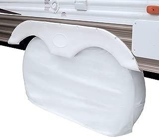 Classic Accessories OverDrive RV Dual Axle Wheel Cover, White, Small