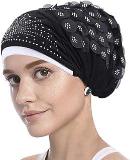 Women Muslim Stretch Turban Hat Hair Loss Head Scarf Wrap Hijib Cap Chemo Cap