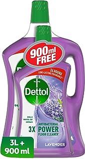 Dettol Lavender Antibacterial Power Floor Cleaner 3L + 900ml Free