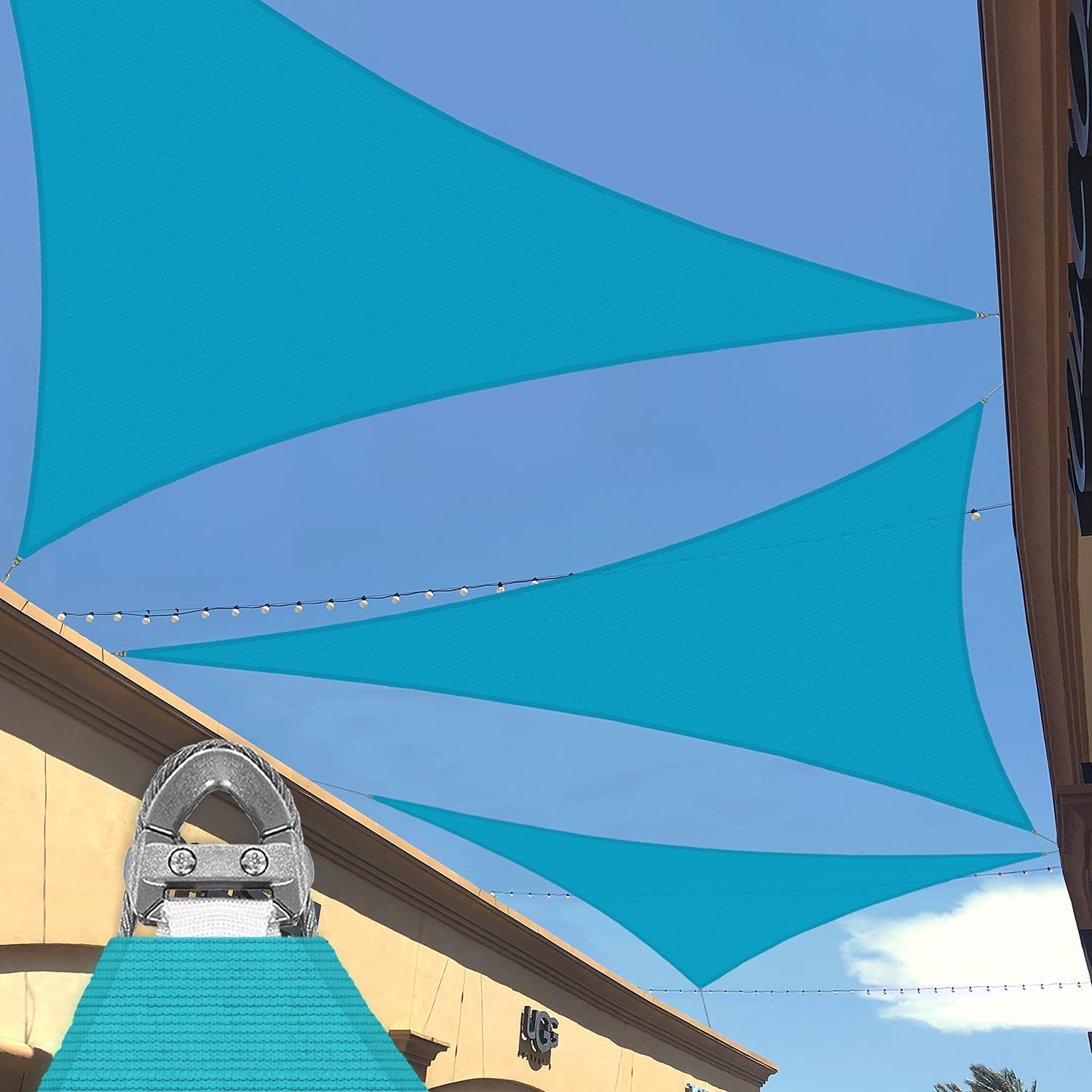 Tucson Mall National products Patio Large Sun Shade Sail Triangle Equilateral x 35'