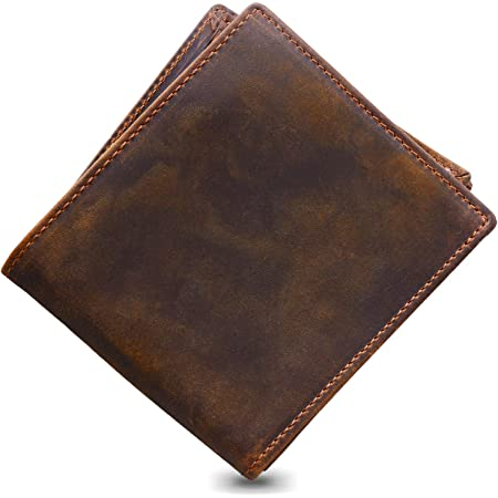 Jack&Chris Men's Premium Genuine Leather Bifold Wallet RFID Blocking with Elegant Gift Box - Keep Cash coins and Cards Securely, Well Organized and Easy to Access - Minimalist Business style, NM8056R