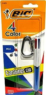 Bic 4 Color Fashion Mini Pen with Carabiner Clip (Blue)