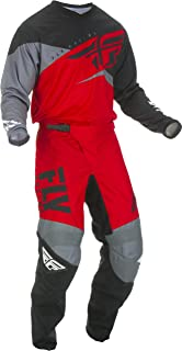 Fly Racing - 2019 F-16 (Mens RED & Black & Grey Medium/32W) MX Riding Gear Combo Set, Motocross Off-Road Dirt Bike Light Weight Durable Jersey & Mesh Comfort Liner Stretch Pre Shaped Knees Pant