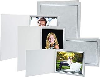 Neil Enterprises Inc. 5x7 Traditional Grey Photo Folder 100 Pack
