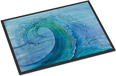"""Caroline's Treasures Abstract Wave Doormat, 24"""" x 36"""", Multicolor"""
