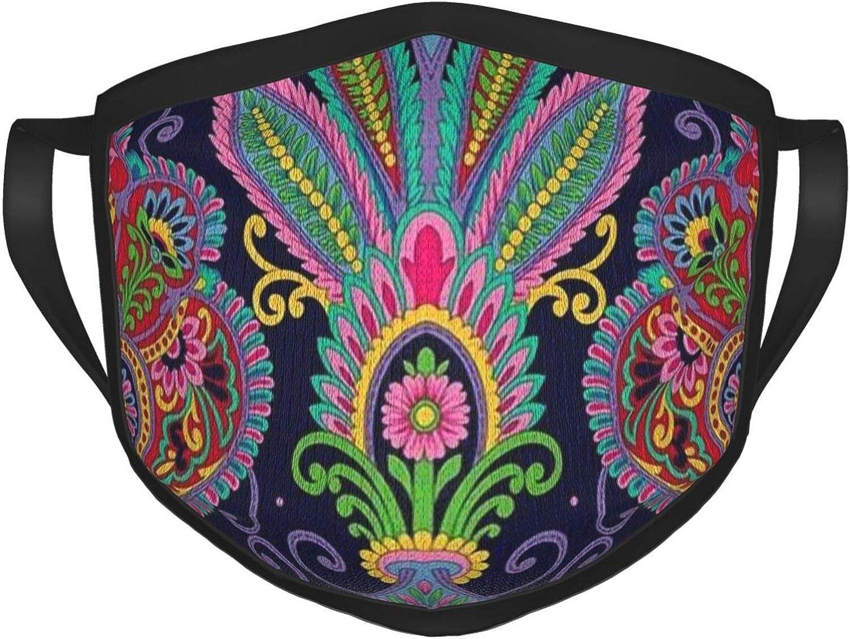 2 Packs Reusable Mouth Guard, Purple Charming Lavender Unisex Face Cloth
