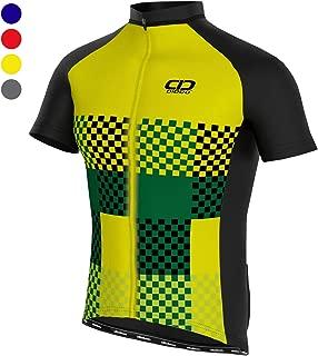 Didoo Men's Cycling Jersey Short Sleeve Biking Shirt Lightweight Breathable Moisture Wicking Full Zip Bicycle Tops for Men