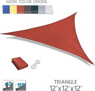 Love Story 12' x 12' x 12' Triangle Terra UV Block Sun Shade Sail Perfect for Outdoor Patio Garden
