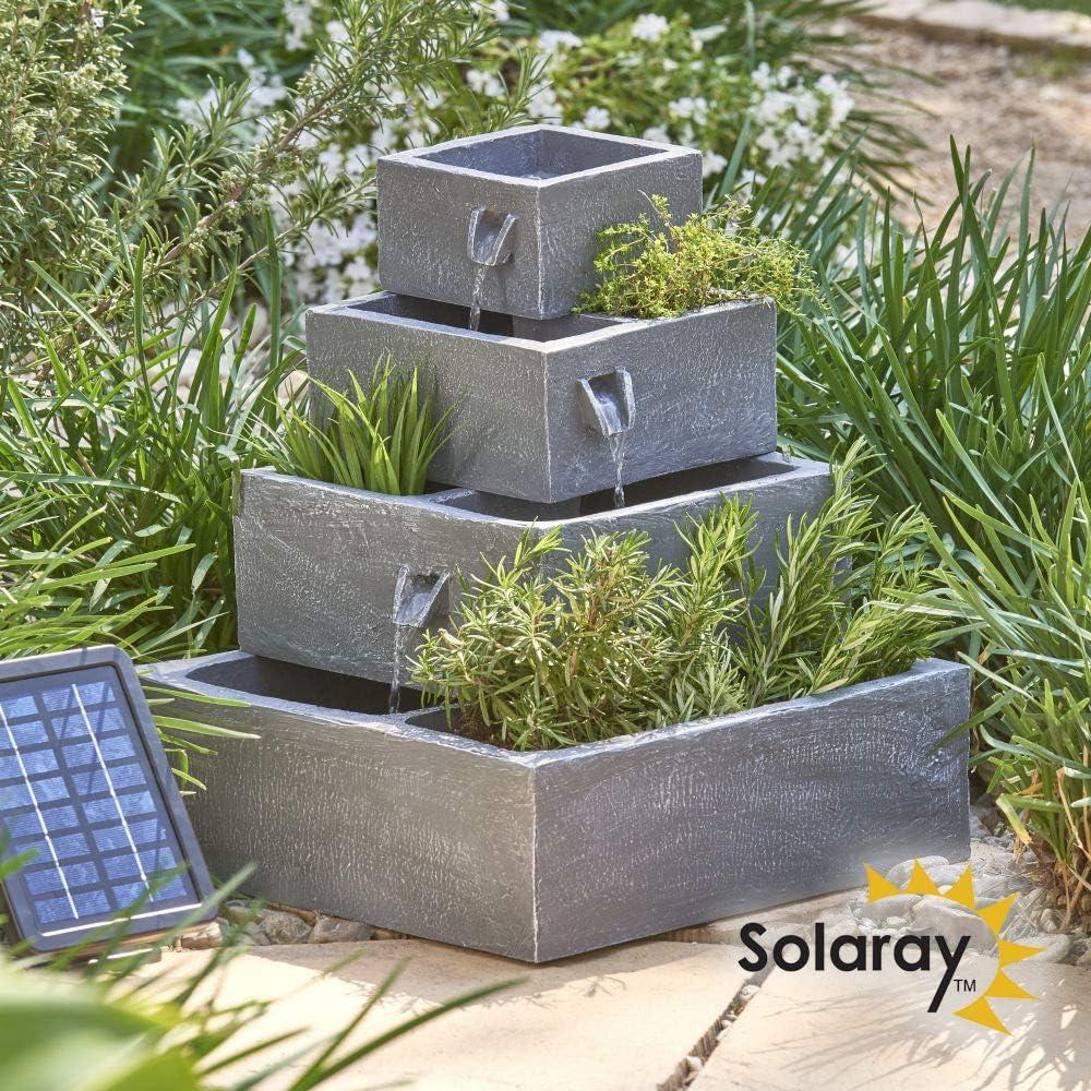 Ambiente 8 Tier Cascade Solar Water Feature Planter  Amazon.de ...