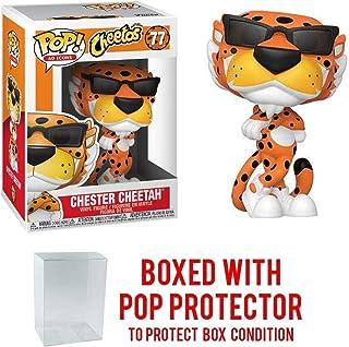 Pop Ad Icons: Cheetos Chester Cheetah Pop Figura de vinilo (incluye funda protectora compatible con Pop Box)
