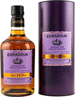 Edradour 19 Years Old Highland Single Malt BORDEAUX CASK FINISH Vintage 1999 Whisky 1 x 0.7 l