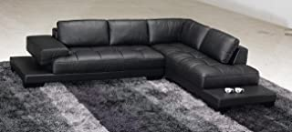 Best modern black leather sectional Reviews