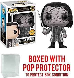 Funko Pop! Disney: Pirates of the Caribbean Dead Men Tell No Tales - Captain Salazar CHASE VARIANT Vinyl Figure (Bundled with Pop BOX PROTECTOR CASE)