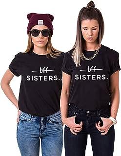 Minetom Best Friends Camisetas Mujer Manga Corta Verano Casual Moda T-Shirt Tops Soul Sisters BFF Imprimir Mejor Amigo Tops Regalo de Cumpleaños