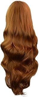 80cm 巻き髪 heliltd ウィッグ 手触り良い 髪量十分 耐熱 ネット付き コスプレ用 ハロウィン女装 仮装 パーティー