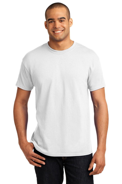 Hanes Men's ComfortBlend EcoSmart T-Shirt Factory outlet Crewneck Mail order Large White