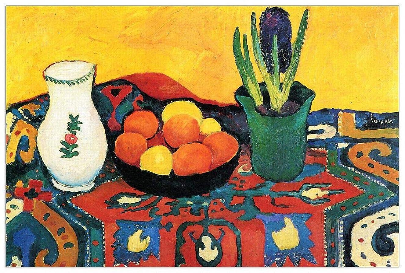 ArtPlaza TW91414 Macke August-Still Life with Hyacinthe Decorative Panel, 39.5x27.5 Inch, Multicolored