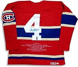Jean Beliveau Signed Autographed Heritage Jersey Montreal Canadiens 004/100 WGA