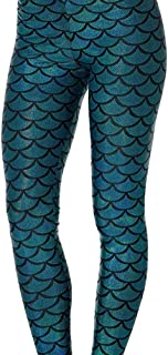 7b392ad5ac631a Tamskyt Women Shiny Fish Scale Mermaid Hologram Stretch Leggings for Women  Pants
