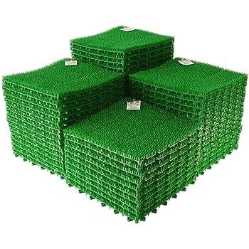 日本製 人工芝 若草ユニット E-V グリーン 60枚セット