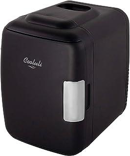 ثلاجة Cooluli Classic بحجم 4 لتر صغيرة للثلاجة الصغيرة للسيارات والرحلات الطرق والمنازل والمكاتب والمستشفيات وحضانات الأطف...