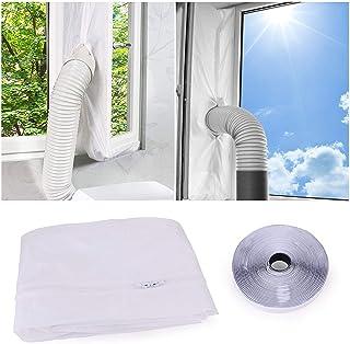 FORMIZON Fensterabdichtung für Mobile Klimageräte, Klimaanlagen, Wäschetrockner und Ablufttrockner, Hot Air Stop Passend zum Anbringen an Fenster, Dachfenster, Flügelfenster 400CM