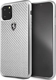 Ferrari Heritage Real Carbon Hard Case for Apple iPhone 11 Pro Max - Silver