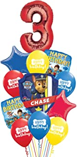 Paw Patrol Ziggos Party 3rd Birthday Balloon Kit Includes Foil and Latex Balloons and Precut Ribbon