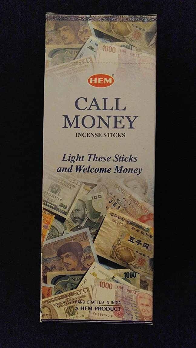 染色ラリーいっぱいコールMoney 6ボックスの20?= 120裾Incense Sticksバルクケース小売表示ボックス