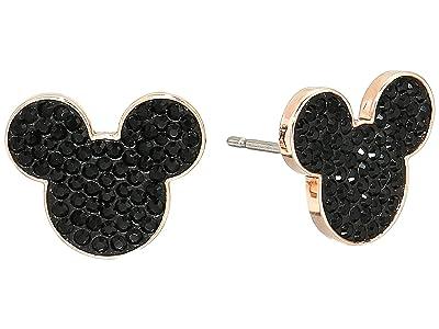 Swarovski Mickey Minnie Pierced Earrings (Black) Earring