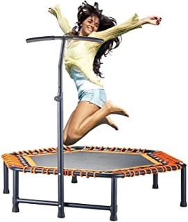 CASTOOL 48''Ultra Quiet Fitness Mini Octagon Trampoline with Adjustable Handle,Safe Elastic Band – Indoor Fitness/Home Workout Cardio Training for Adults