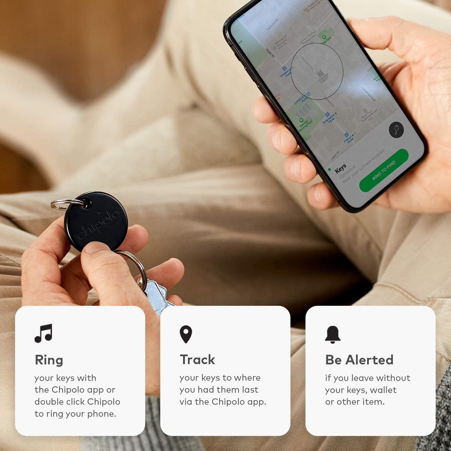 Chipolo ONE 2020 Green - Loudest Water Resistant Bluetooth Key ...