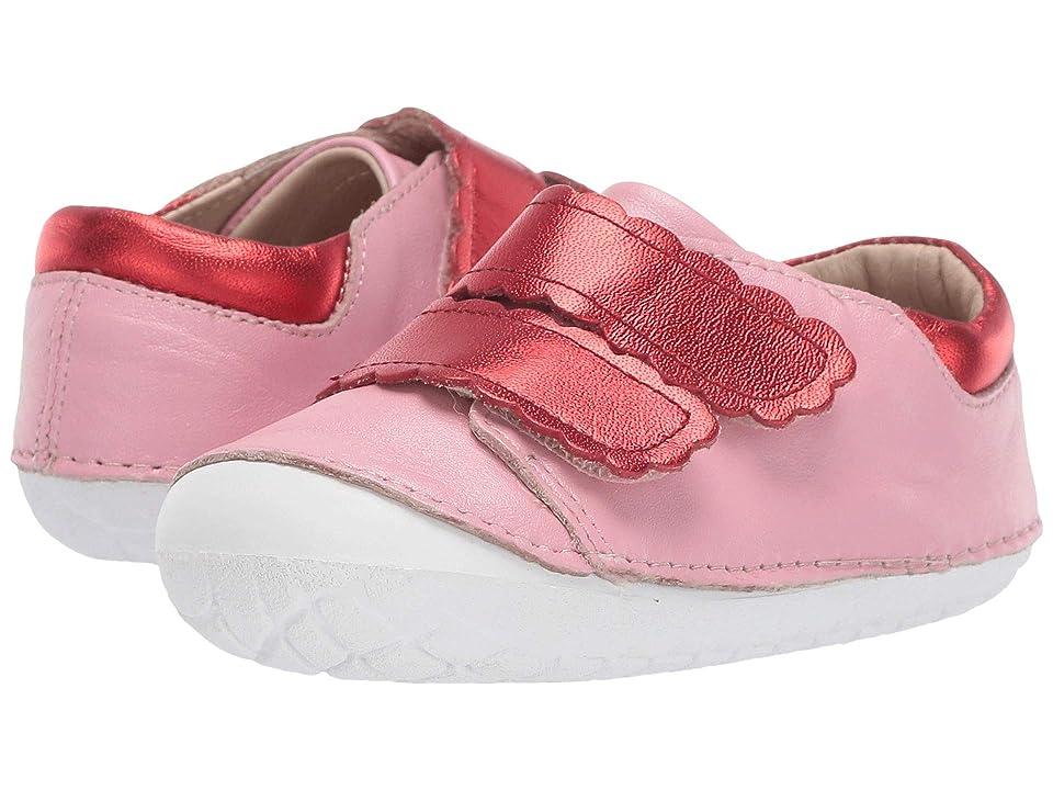 Old Soles Pave Curve (Infant/Toddler) (Pearlised Pink/Red Foil) Girl