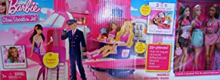Barbie Glam Vacation Jet! - 2 in 1 Jet & Vacation Spot 35+ Piece Playset w Pl